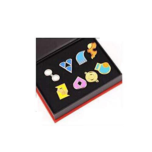 Xcoser Version V3 Pokemon Ash Gym Badge Gen 1-6 Badge Collection Box Set von 8 Stück ()