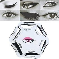 A2B Shopping ltd 1Pc 6 In 1 Beauty Cat Eyeliner Stencil Smoky Eye Models Template Shaper Makeup Tool
