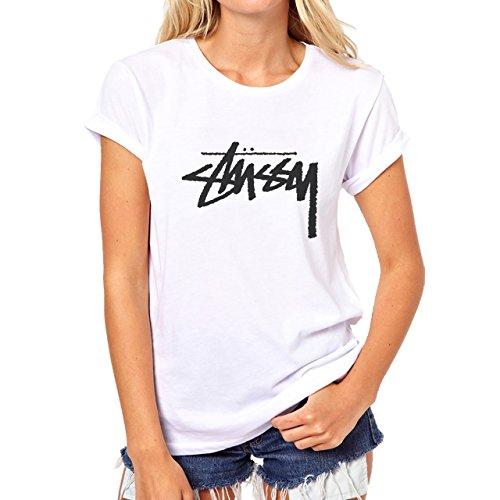 Stussy Oldschool Black Style Signature Original Denim Edition Medium Donne T-Shirt
