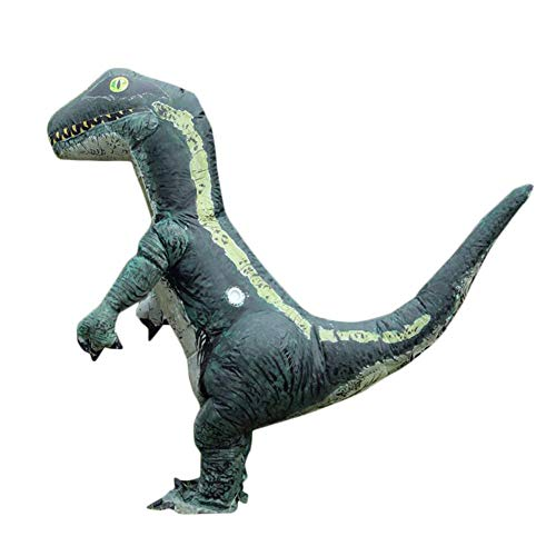 Inflatable Dinosaur Costume aufblasbare Dinosaurier AnzügeDinosaurier T-Rex Cosplay Halloween Kostüm, Grün