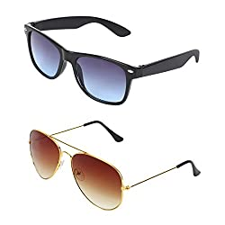 Abner Combo of 2 Sunglasses Wayfarer & Aviator Sunglasses-COMBO 2375