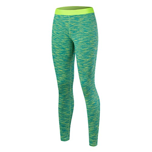 Zhhlaixing Fashion Women's Tights Yoga Sports High Waist Elasticity Fitness Pants green