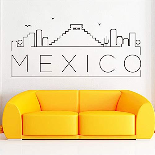 Wandaufkleber Kinderzimmer Dekoration Mexiko Haus Dekor kreative schöne Abziehbilder