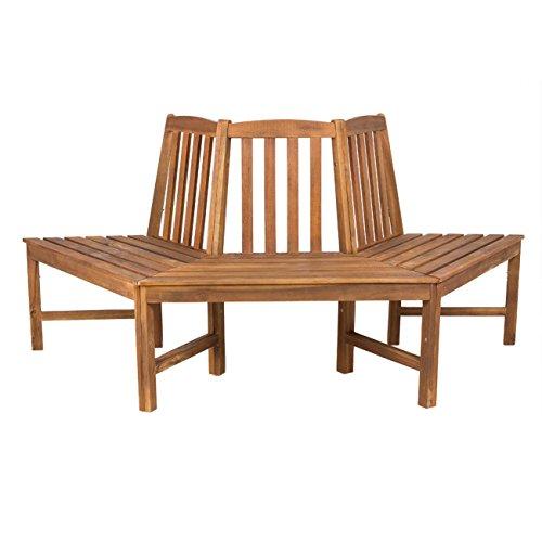 OUTLIV. Baumbank halbrund Gartenbank 3-Sitzer 199x86cm Akazie FSC Sitzbank Garten