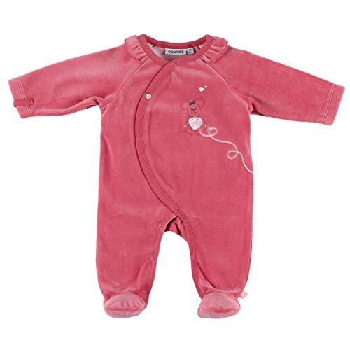 Noukie's Noukies Pyjama grenouillère en Velours Bébé Fille Rose 3M