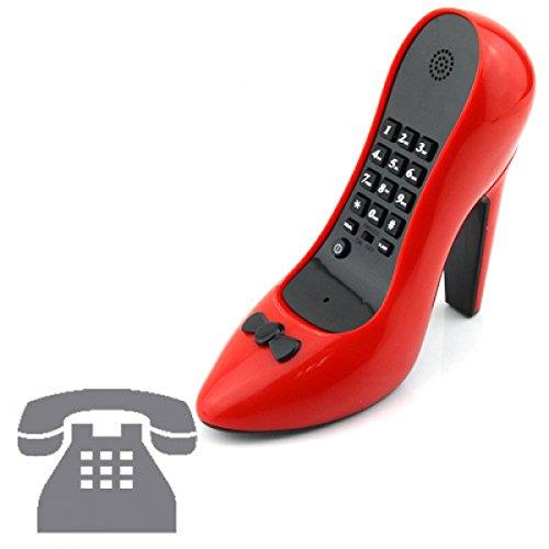 telefono-vintage-fijo-con-diseno-retro-color-rojo-forma-tacon-alto-zapato-design-drole-original-geek