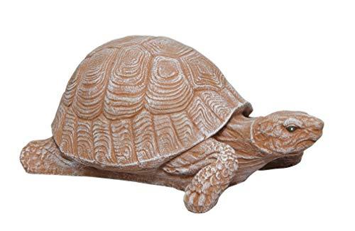 Steinfigur Schildkröte Steinguss Terrakotta, Deko, Figur, Garten, Stein, frostsicher ()