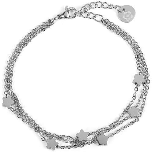 Flechtelement Strass Armband Damen Wickelarmband mit Strasssteine Schriftzug