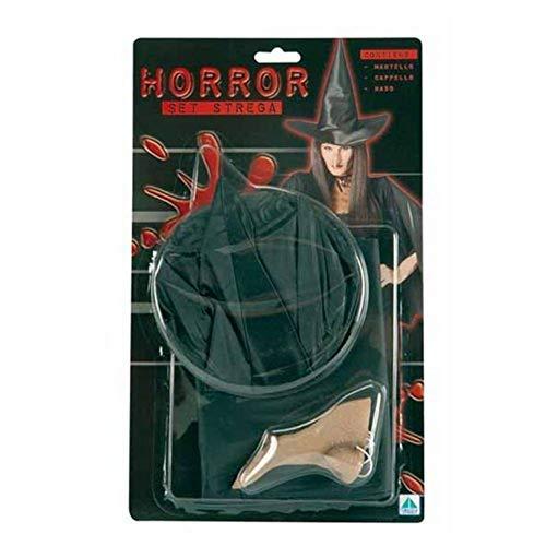 Piccoli monelli set strega mantello cappello naso travestimento halloween