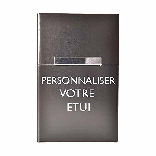 Etui à cigarettes personnalisable / bleu / noir / argent / or /