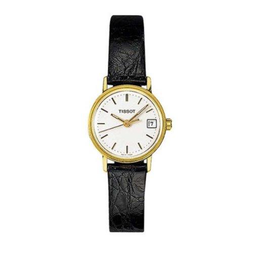 Tissot T71310631 - Reloj analógico de mujer de cuarzo con correa de piel negra