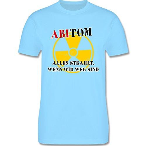 Abi & Abschluss - ABItom- Alles strahlt, wenn wir weg sind - Herren Premium T-Shirt Hellblau