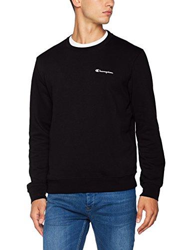 Champion Herren Classic Small Logo Sweatshirt, Schwarz, Medium