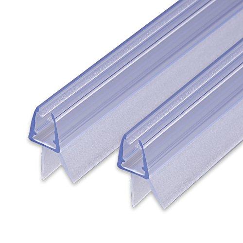 Ersatzdichtung mit Dichtkeder für 6mm/ 7mm/ 8mm Glasdicke Wasserabweiser Duschdichtung Schwallschutz Duschkabine #S1001 (2x 80cm)