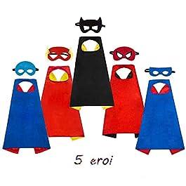 AYUTOY Costumi da Supereroi per Bambini-Regali di compleanno – Costumi Carnevale Mantelli e Maschere Giocattoli per…