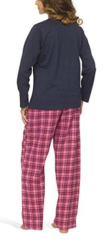 Damen Schlafanzug mit Flanellhose - Moonline Navy