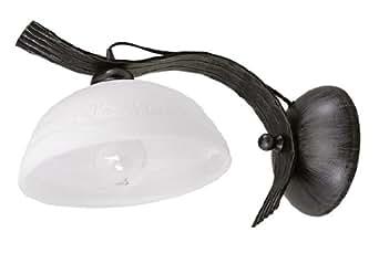 Classique applique murale lampe, feu-argent effet noir