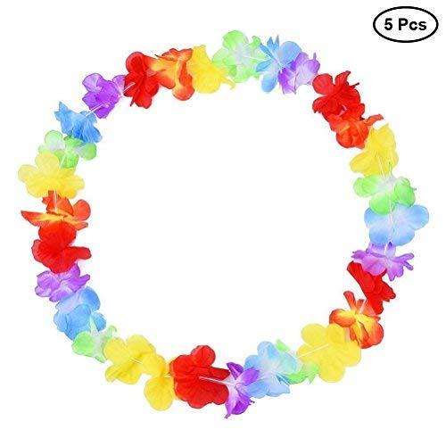Deaman Seil Spielzeug Hawaiian Leis Halskette Blume Garland Tropische Luau Party Favors Beach Hula Kostüm Zubehör Langlebig Kauspielzeug (Hawaiian Themed Kostüm)