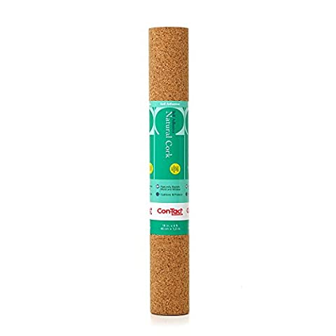 Con-Tact Brand Self-Adhesive Shelf and Drawer Liner, 18-Inches by 4-Feet, Natural Cork by Con-Tact