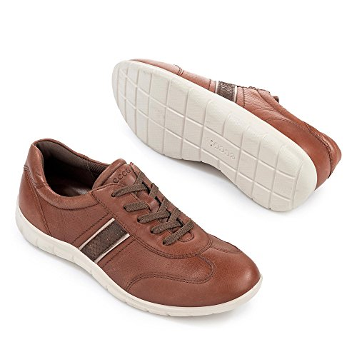ECCO Soft 7 Ladies, Scarpe Stringate Basse Derby Donna Marrone