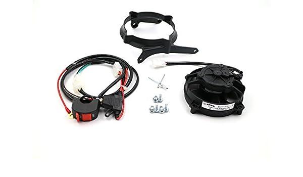 ProRace Ventilateur axial Ventilateur SPAL dorigine avec interrupteur pour tous les enduros 2 et 4 Temps