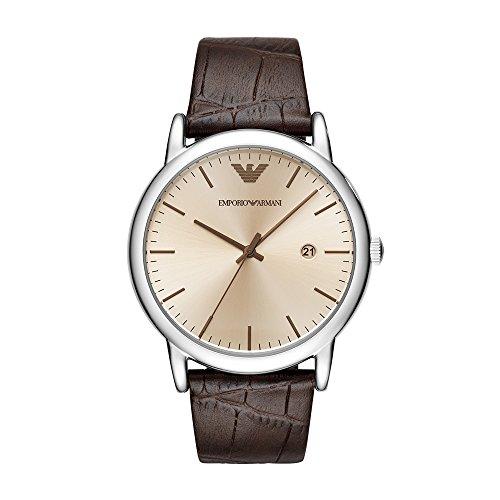Emporio Armani Men's Analogue Quartz Watch with Leather Strap AR11096
