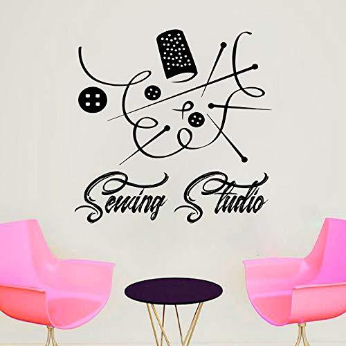 Couture Studio Stitchcraft Bouton Vinyle Stickers Muraux Chambre Accueil Intérieur Fenêtre Stickers Art Décor Murales Amovibles Papier Peint 58X57CM