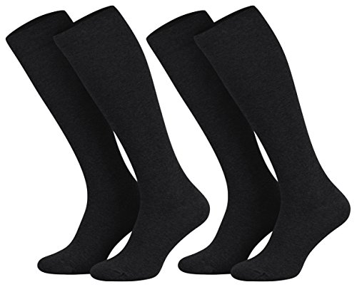 tobeni-2-pairs-of-stockings-cotton-knee-socks-with-light-compression-colorblacksizeeu-43-46-uk-9-11