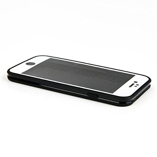 EGO Wasserdicht Schutz Hülle TPU Silikon Handy Tasche Case Flexibel Elastic Etui Waterproof Wasserfest für iPhone 7 Plus Schwarz Schwarz