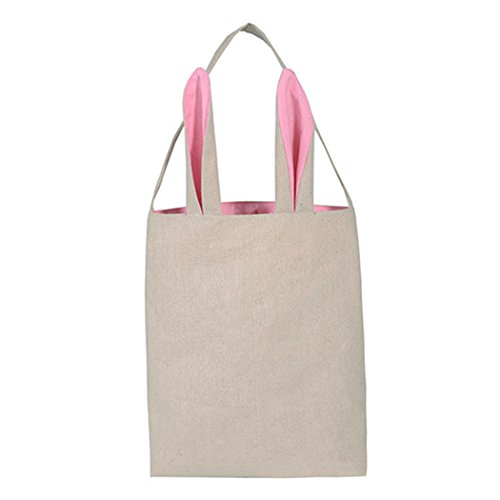 Osterhase Tasche, Funpa Hase Geschenk Tasche 3D Hasenohren Tasche Baumwolle Leinen Party Tasche Ostern Candy Tote Tote-geschenk-taschen