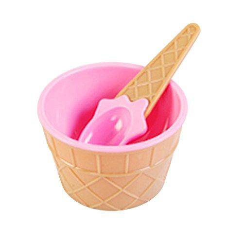 Löffel aus doppelwandigem Kunststoff, bruchsicher, bunte Farben rose ()