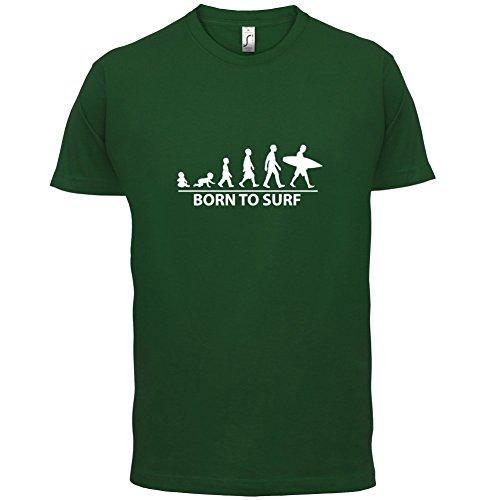 Born To Surf - Herren T-Shirt - 13 Farben Flaschengrün