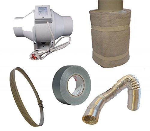 Airtech Inline Duct Hydrokultur Belüftung Single Speed Lüfter-Kit 125mm (Air Lüfter Duct)
