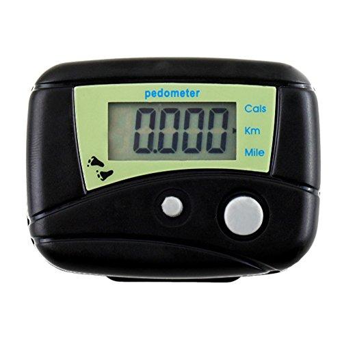 QIND - Podómetro Digital Digital LCD Multifuncional, Podómetro de Paso, Contador de...