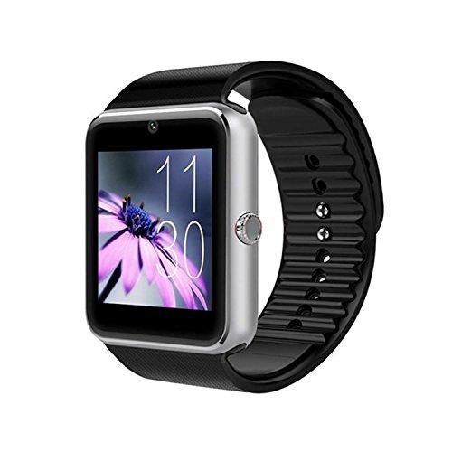 Smartwatch Bluetooth con fotocamera, slot per scheda SIM TF, smart watch per smartphone Android da uomo, Samsung, LG, Sony, HTC, Google Pixel