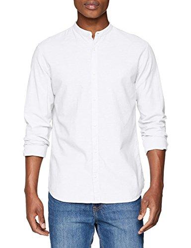 Jack & jones premium jprsummer mao shirt l/s sts, camicia formale uomo, bianco (white fit: slim fit), medium