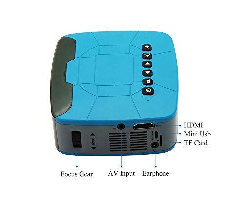 FENGT Video Proiettore Bambino Portatile Piccolo Mini Proiettore Multimediale Home Theater Supporto di Apprendimento del Gioco Ricarica Ricarica Tesoro,Blue