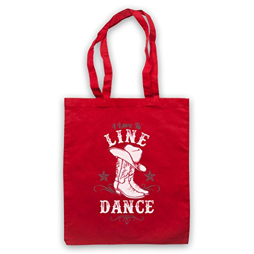 I Love To Line Dance Country Barn Dance Umhangetaschen Rot