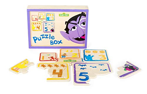 amstrasse Box aus Holz für Kinder ab 3 Jahren, 100% FSC-Zertifiziert, mit verschiedenen Puzzles und Motiven, durch verschließbare Holzbox ideal für unterwegs Spielzeug, Mehrfarbig ()