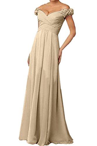 ivyd ressing robe à partir de Robe de Robe des épaules avec fleurs mousseline Party Prom fête soirée robe Champagne