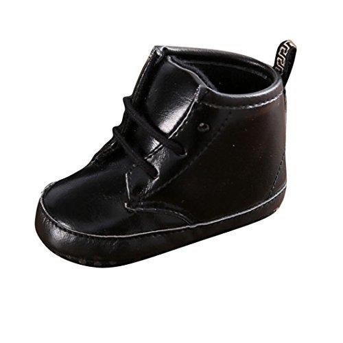 Martin bottes,Clode® bébé d'hiver enfant Martin bottes chaussures chaudes (6 ~ 12 mois, jaune) Noir