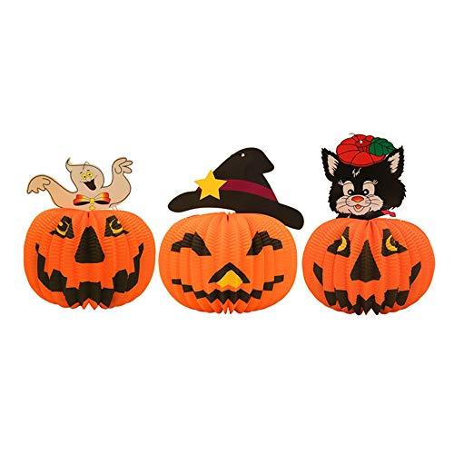 LXY Halloween Dreidimensionale Papier Papier Laterne Anhänger Ripstop -