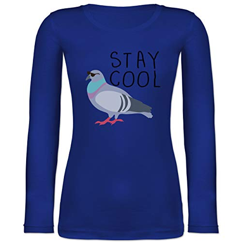 Statement Shirts - Stay Cool - L - Blau - BCTW071 - Langarmshirt Damen