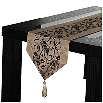 SODIAL(R) Fashion Accessories Flower Tablecloth Table Runner Tables Cloth Wedding