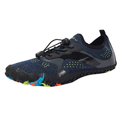 Yvelands Schnell trocknende Wasserschuhe für Männer Pool Beach Swim Drawstring Shoes(Blau,39)