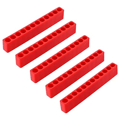 Schraubendreher-Aufbewahrungs-Deck, 5 Stück, Organizer-Schrauben-Bits, Werkzeugkasten, Mehrzweck-Zubehör, praktisch, langlebig, tragbar, platzsparend, Sechskantschaft, schwarz