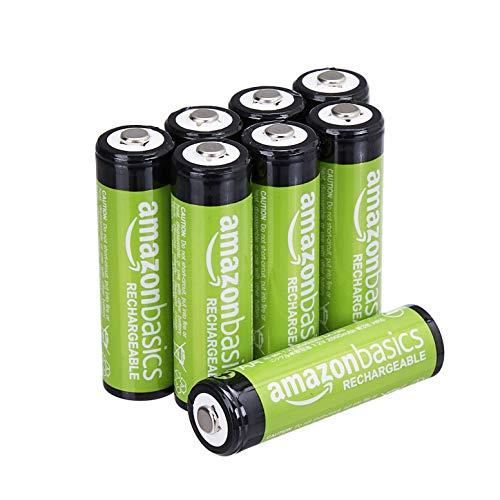 AmazonBasics Vorgeladene Ni-MH AA-Akkus - Akkubatterien (1.000 Zyklen, typisch 2000mAh, minimal 1900mAh) 8 Stck (Äußere Hülle kann von Darstellung abweichen)