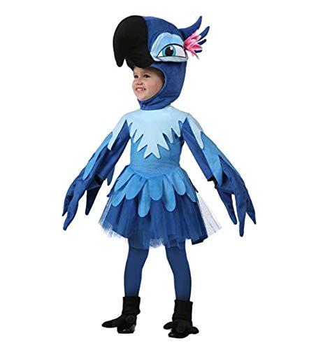 Kinder-weihnachts-pyjamas (JXILY Rio Blu Romper - - Halloween Weihnachten Cosplay Tier Pyjama Kostüm - Kind/Erwachsener (Blau),A,2)
