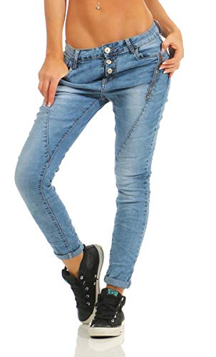 f244279beba94a OSAB-Fashion 4000 LEXXURY Damen Jeans Röhrenjeans Hose Boyfriend ...