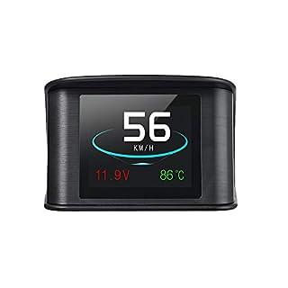 KKmoon P10 Auto HUD Head Up Display Smart Digital Tacho mit OBDII / EUOBD Port-LED-Anzeige OBDII Scanner Diagnose-Tool